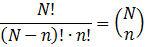 Binomialkoeffizient
